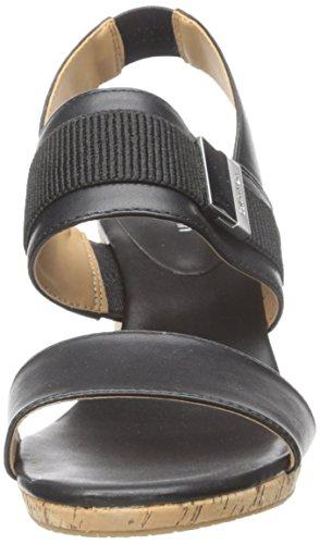 Calvin Klein Brandie Damen Synthetik Keilabsätze Sandale Black