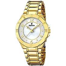 829b31fdcc8e Festina Reloj Analogico para Mujer de Cuarzo con Correa en Bañada en Oro  F16727 2