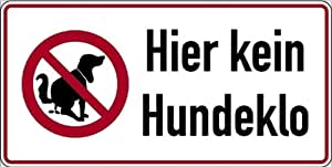 schild alu hier kein hundeklo 150 x 300 mm hundekot hundetoilette hundehaufen wetterfest. Black Bedroom Furniture Sets. Home Design Ideas