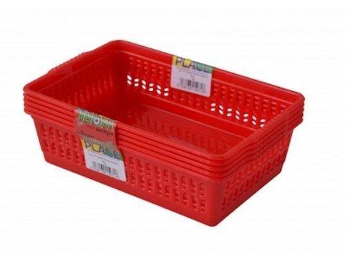 red-set-of-5-small-plastic-handy-fruit-vegetable-basket-kitchen-office-storage