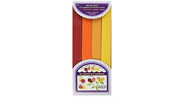32-Pack 18.5 by 10mm Quilled Creations Q841 Corrugated Quilling Paper Blue//Green//Purple