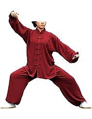 KIKIGOAL Unisex Tai Chi Anzug Damen und Herren Kung Fu Uniformen Kampfsport Baumwolle Flachs und Seide Chinoiserie