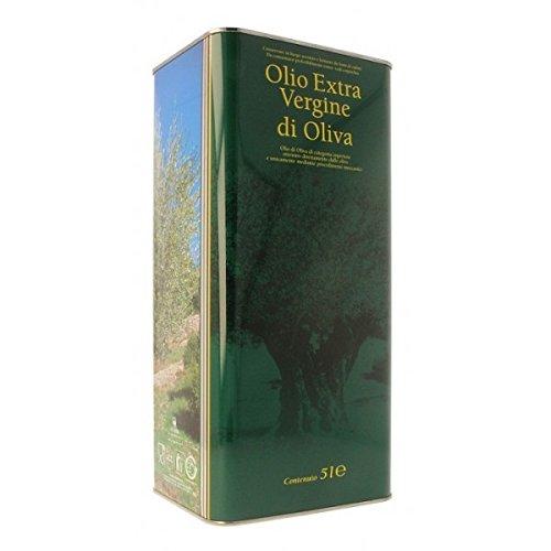 Olio extravergine di oliva 100% italiano lattina 5 litri raccolta 2017 carolea estrazione a freddo