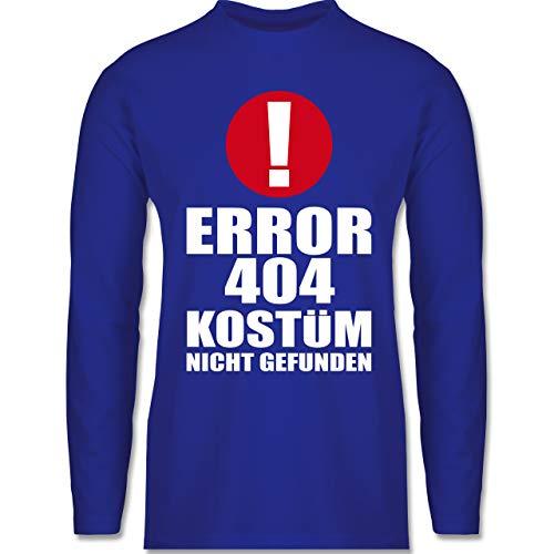 Shirtracer Karneval & Fasching - Error 404 Kostüm Nicht gefunden - XXL - Royalblau - BCTU005 - Herren Langarmshirt