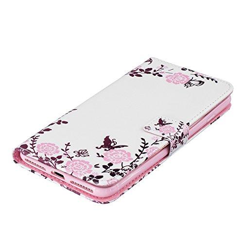 iPhone 7 Plus (5.5 Zoll) Hülle, ultradünne Muster Schutzhülle mit Doppel-Magnetverschluss, Kartenfach und Standfunktion für Apple iPhone 7 Plus (5.5 Zoll) ( + Stöpsel Staubschutz) (7) 3