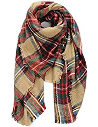 BOLAWOO Écharpe plaid carrée couverture foulard écossais tartan à rayé  carreaux motif Mode Chic à carreaux 7c8adb0028e