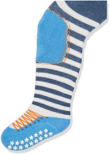 FALKE Baby Jungen Strumpfhosen / Leggings Crawler Boy - 1 Paar, Gr. 80-92, blau, Noppen Sohle, Baumwolle hautfreundlich