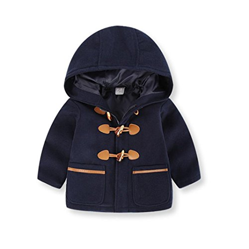 Hirolan Neugeborene Kleidung College Baseball Jacke Kleinkind Kinder Baby Jungen Herbst Kapuzenpullover Mantel Lange Ärmel Mantel Dick Warm Fleecejacke Kleider (90, (Kostüme Ideen College Party Jungs)