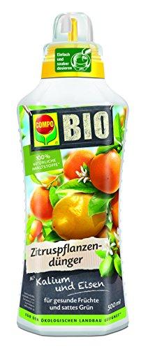 COMPO BIO Zitruspflanzendünger, flüssiger Blumendünger für die perfekt abgestimmte Pflege aller Zitruspflanzen, 500 ml