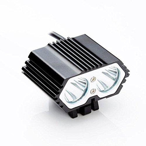 Glowjoy LED Fahrradbeleuchtung Fahrradlicht,Wasserdicht Fahrradleuchte Fahrradbeleuchtung,6000LM 2 X CREE XM-L T6 LED Fahrradlampe Fahrradlicht, Rücklicht,Aufladbare Fahrradlichter für Camping