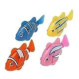 2 PCS Lifelike jouets électroniques Mini Robotic poisson Robot de pêche pour les enfants (Colorful)
