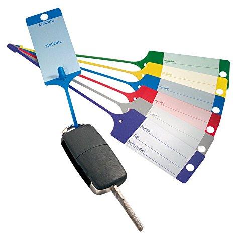 100 Schlüsselanhänger / Fixanhänger Blau