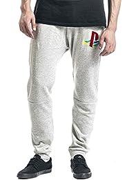 Playstation Classic Logo Pantalon Survêtement gris clair chiné