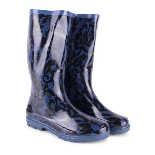 Footwear Sensation ,  Damen Gummistiefel Blue Lace