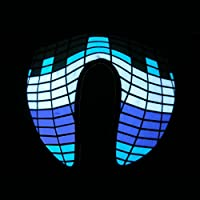 Glowing Sound Activated Mask - Blue Equalizer - EL Mask for Parties, Festivals, Clubs
