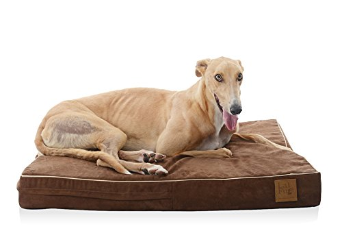LaiFug Orthopedic Memory Foam Pet/Dog Bed,Durable Water Proof Liner,Removable Cover,Washable