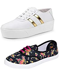 Earton Premium Quality Stylish & Designer Casual Sneakers Shoes for Women Size: 4 (Colour: Multicolor) _ 229