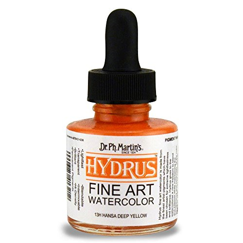 dr-ph-martins-hydrus-fine-art-watercolor-10-oz-hansa-deep-yellow-13h