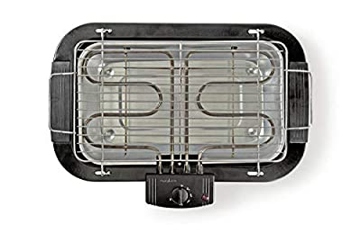 2000 Watt Elektrogrill, elektrischer BBQ Tischgrill mit Thermostat, Balkongrill inkl. Wasserbad, XXL-Grillfläche (38x22cm)