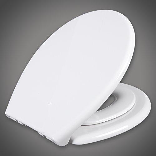 WOLTU WS2584 WC-Sitz mit Absenkautomatik, Mit integriertem Kindersitz, Magnet-Anschluss, Antibakteriell, Weiß