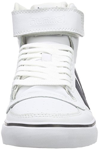 Hummel Stadil Classic, Baskets Basses mixte adulte Weiß (White/Total Eclipse)