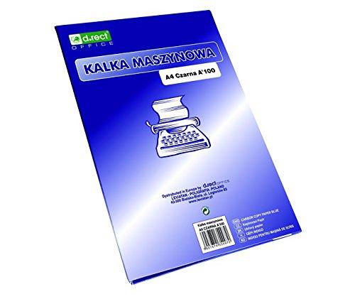 D.Rect Durchschlagpapier A4 Schreibmaschinenpauspapier (Schwarz) A'25