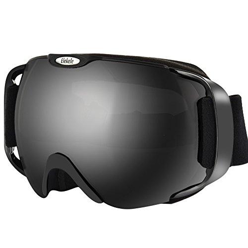 Katurn occhiali da sci casco sferica wide view sci con lenti intercambiabili, protezione per unisex adulto