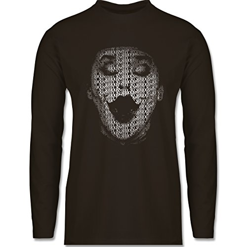 Comic Shirts - Jack Napier - Longsleeve / langärmeliges T-Shirt für Herren Braun