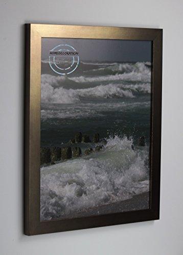 Home Decoration Kiruna Bilderrahmen im Bauhaus Stil, eckig und stabil 58 x 124 cm Größen Auswahl 124 x 58 cm hier: Bronze Dekor mit Acrylglas Antireflex 2 mm