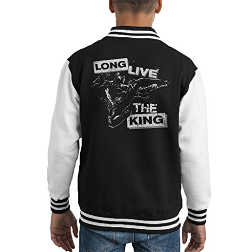 Black Panther Long Live The King Punk Kid's Varsity Jacket (Punk Panther)