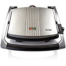 Breville Sandwich/Panini Press and Toastie Maker, 4-Slice, Stainless Steel [VST026]