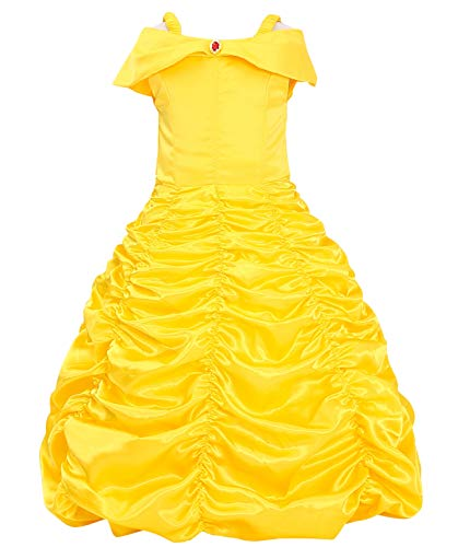 ädchen Prinzessin Cosplay Kostüm Fancy Schmetterling Kleid (120, E39-yellow) ()