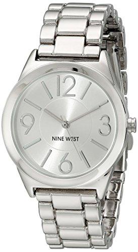Nine West reloj infantil de cuarzo con para mujer plateado esfera analógica y plateado correa de acero inoxidable de NW/1663svsb