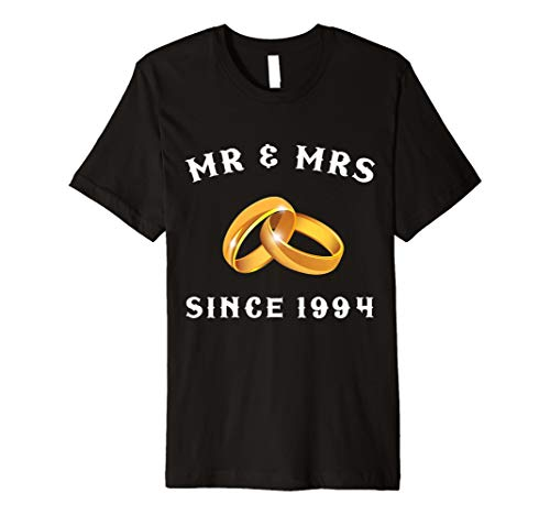 Mr And Mrs Since 1994 T-Shirt 25th Anniversary