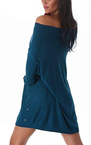 Jela London -  Maglione  - Basic - Maniche lunghe  - Opaco - Donna Blu