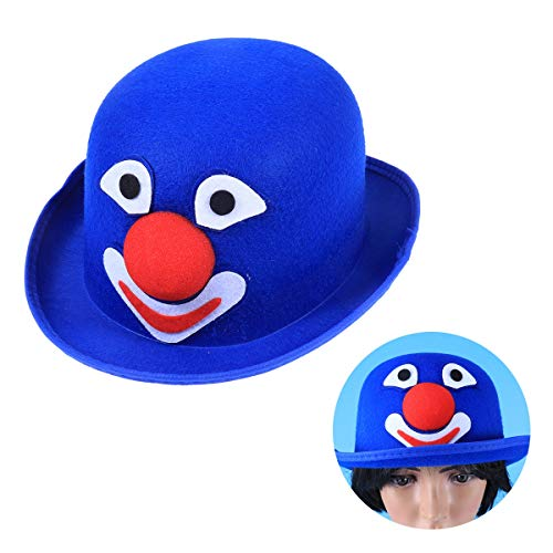 Kostüm Aviator Cap - Amosfun 1pc Kostüm Hat Colored Funny Cap Dome Hut für Karneval Cosplay Stage Performance Festival Magic Show Blue