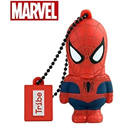 Chiavetta USB 16 GB Spiderman - Memoria Flash Drive 2.0 Originale Marvel, Tribe FD016505