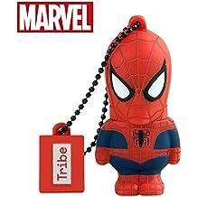 Chiavetta USB 16 GB Spiderman - Memoria Flash Drive 2.0 Originale Marvel, Tribe FD016505