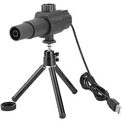 Zerone Portable USB Télescope, 2MP 70x Ultra-Clear Support Logiciel Smart Travescope avec trépied