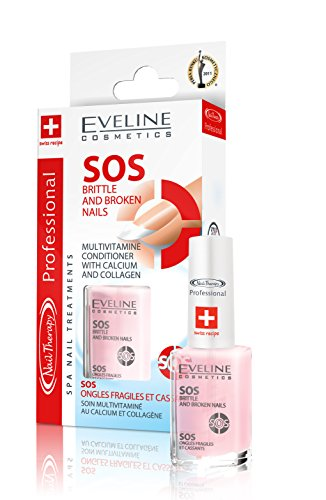 Eveline Cosmetics Nail Spa Stärkender Aufbaupräparat mit Vitaminen, Kalzium und Kollagen 12ml