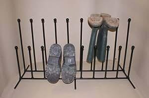 Atlantic Crafts Support porte-bottes en fer forgé Pour 10paires de bottes