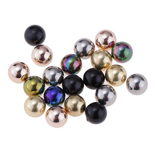 Homyl 20pcs Multicolor Recambio Piercing Bola de Anillo de Lengua Labio Ceja - 1.6 * 5mm