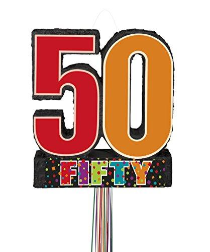 Birthday Cheer 50th Birthday Pinata, Pull String