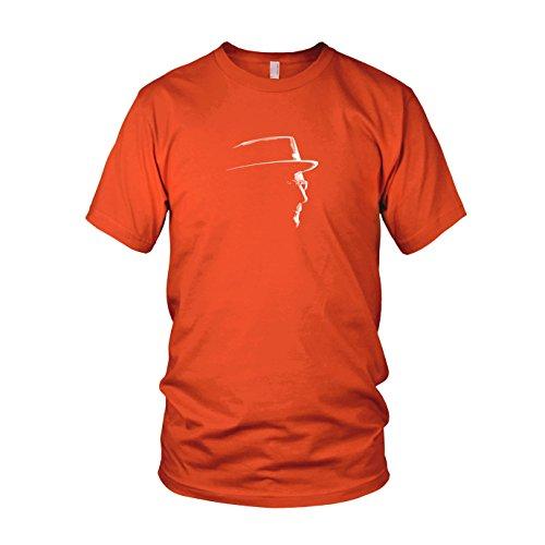 Herren T-Shirt, Größe: S, Farbe: orange (Breaking Bad Meth Tasche Kostüm)