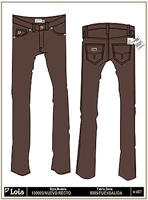 LOIS - Pantalon Nuevo Recto Fuensalida, Hombre, Color Marron, Talla 36