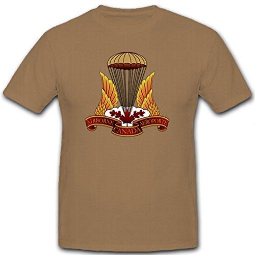 Airborne Canada Aeroporte Kanada kanadische Streitkräfte Militär Abzeichen Emblem - T Shirt Herren khaki #8882