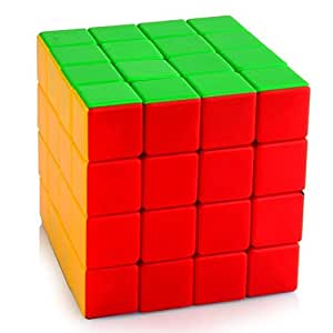 Emob Magic Rubik Cube 4x4x4 High Speed Sticker-Less Problem Solving Cubes