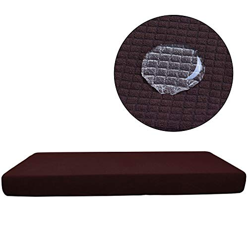 WMWZ 2 Stücke Sofa Slipcover Brown Waterproof Sofa/Chair-Loveseat Kissen Cover Sofa Kissen Protektor Soft Sofa Cover,Brown,2Seater