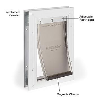 PetSafe Petite Chatière Staywell Robuste en Aluminium (S) pour Chat et Petit Chien - avec Système de Verrouillage