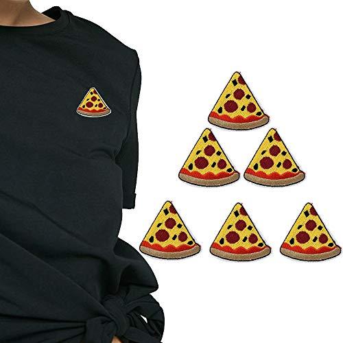 vijtiandifine Pizza Stickerei Plakette Kleidung Stoff Patch Applikation Decor DIY - Leder-logo-plakette
